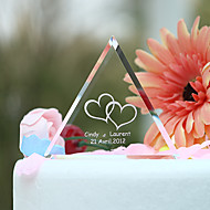Cake Toppers Personalized Crystal Triangle  Cake Topper