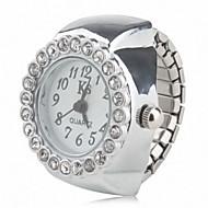 Damen Modeuhr Quartz Band Glanz Silber Marke-