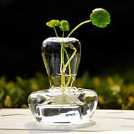 centres de table design champignons vase de verre clair deocrations de table de pièce maîtresse