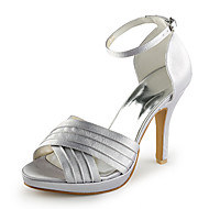 Satin Stiletto Heel Sandals / Peep Toe With Buckle Wedding / Party Evening Shoes (More Colors Available)