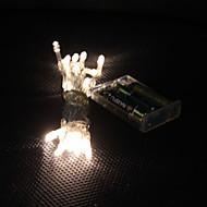 3m 30 led blanc chaud 2-mode lampe led chaîne de fées pour Noël (3xAA)