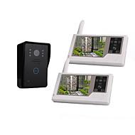 "3.5"" TFT Digital Screen Wireless Video Door (1 Camera with 2 Monitors, Rechargeable Battery)"