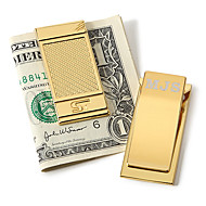 Gift Groomsman Personalized Gold Tint Money Clip