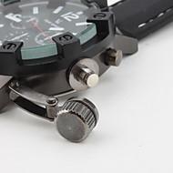 V6 男性 軍用腕時計 クォーツ 日本産クォーツ シリコーン バンド ブラック