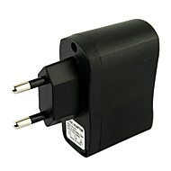 eu-plug usb AC DC voeding lader adapter mp3 mp4 dv oplader (zwart)