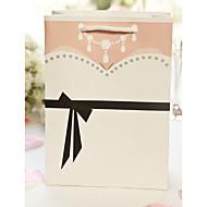 12 Stück / Set zugunsten Halter - kreative Kartenpapier Bevorzugungstaschen doppelseitig tuxedo& Kleid