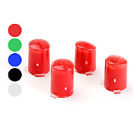 Replacement Transparent A, B, X, Y Buttons for Xbox 360 controller (Assorted Colors)