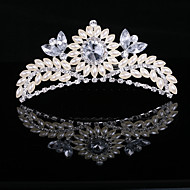 perle d'imitation magnifique et zircone cubique en alliage tiare