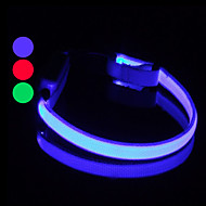 Dog Collar LED Lights / Adjustable/Retractable / Safety / Batteries Included Red / White / Green / Blue / Pink / Yellow / Orange / Rainbow