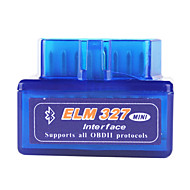 Super Mini Bluetooth OBD2 ELM327 V1.5 Car Diagnostic Interface Tool - Blue