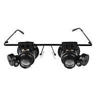 gafas de tipo 20x lupa con luz LED blanca