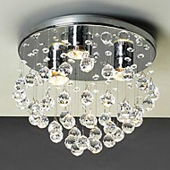 Max 40W Flush Mount ,  Modern/Contemporary Electroplated Feature for Crystal / Mini Style Metal Living Room / Study Room/Office