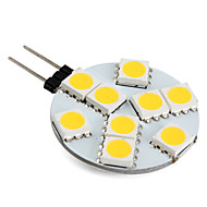G4 1W 9 SMD 5050 100 LM Warm White LED Bi-pin Lights V 1PCS