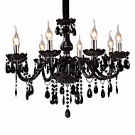 Black Crystal Chandelier with 8 Lights