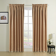 Two Panels Rod Pocket Top  Modern Classic Embossed Blackout Curtains Drapes