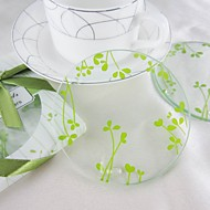 folhas coasters projeto redondas (conjunto de 2)