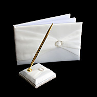 Rhinestone Wedding Guest Book And Pen Set Sign In Book