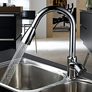 Sprinkle® by Lightinthebox - Contemporary Solid Brass Pull Out Kitchen Faucet Chrome Finish