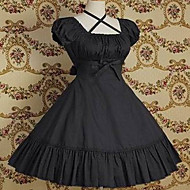 Short Sleeve Knee-length Pure Color Cotton Classic Lolita Dress