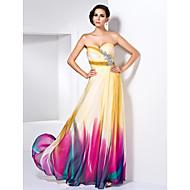 Prom/Formal Evening Dress - Print Plus Sizes Sheath/Column Sweetheart/Strapless Floor-length Chiffon