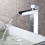 Sprinkle® - ved lightinthebox - solid messing foss bathroom sink tappekran krom (høy)