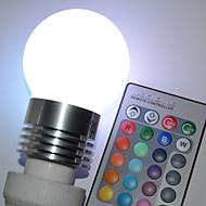 Pallolamput - RGB/Vaihtuva väri - Kauko-ohjattu - G - E26/E27 - 5.0 W