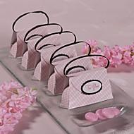 12 조각 / 설정에 찬성 홀더 - 창조적 인 카드 용지 호의 상자 분홍색 체크 무늬 지갑