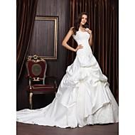 NEEA - kjole til brudekjoler i satin og blonde Med sjal