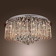 240W krystall innfeldt med 18 lys i runde (G4 pære base)