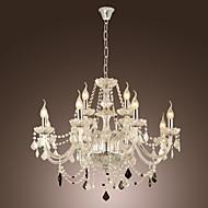 Max 40W נברשות ,  סגנון חלוד/בקתה Electroplated מאפיין for קריסטל זכוכית חדר שינה / חדר אוכל