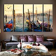 Modern Scenic Wall Clock in Canvas 5pcs K0102