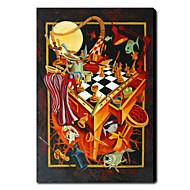Handgeschilderde Abstract Verticaal Eén paneel Canvas Hang-geschilderd olieverfschilderij For Huisdecoratie