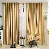 Stone Pattern Embossed Energy Saving Curtain (Two Panels)