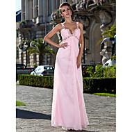 TS Couture® Formal Evening / Prom / Military Ball Dress - Blushing Pink Plus Sizes / Petite Sheath/Column Straps Floor-length Chiffon