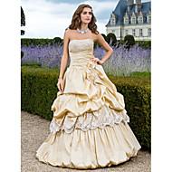 Ball/Formeller Abend/Quinceañera/Süß 16 Geburtstag Kleid - Champagner Taft - Duchesse-Linie/A-Linie/Princess-Stil - bodenlang -