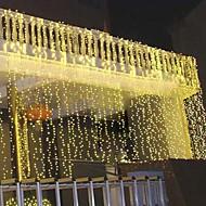 8mx3m Gold LED-String-Lampe mit 800 LEDs - Weihnachten & Halloween Dekoration