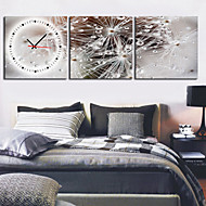Modern Scenic Wall Clock in Canvas 3pcs K0027