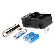 Lanternas LED / Lanternas de Mão LED 3 Modo 1000 Lumens Recarregável / Tamanho Compacto / Tamanho Pequeno Cree XM-L T6 CR123A Trustfire ,