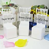 weißen Stuhl-Design zugunsten Box mit Karte (set of 12)