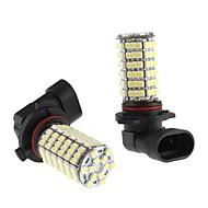 9006 6W 120x3528 SMD fehér LED izzó autó ködlámpa (12V, 2-pack)