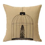 cuir taie d'oreiller cage décorative