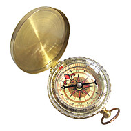 Compasses Hiking Travel Climbing Camping Compact Size Navigation Copper Gold