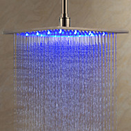 Rain Shower Contemporary LED / Rainfall Stainless Steel Brushed