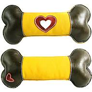 Dog Toy Pet Toys Chew Toy Squeaking Toy Squeak / Squeaking Bone Genuine Leather