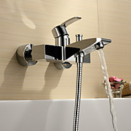 Contemporary  with  Chrome Single Handle Two Holes  ,  Feature  for Centerset Wall Mount