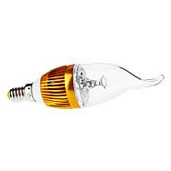3W E14 LED svíčky CA35 3 High Power LED 290 lm Teplá bílá Ozdobné / Stmívací AC 110-130 / AC 220-240 V
