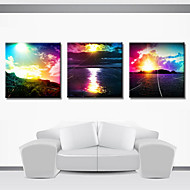 Stretched Canvas Print Landscape Set of 3 1301-0187