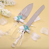 conjuntos que servem bolo de casamento personalizado faca conjunto bolo faca / servidor (mais cores)