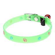 Katzen / Hunde Halsbänder Fußabdruck / fluoreszierend Grün Plastik