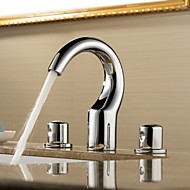 Sprinkle® by Lightinthebox - Two Handles Widespread Solid Brass Chrome Finish Bathroom Sink Faucet